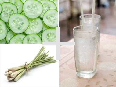 Cucumber and lemongrass water