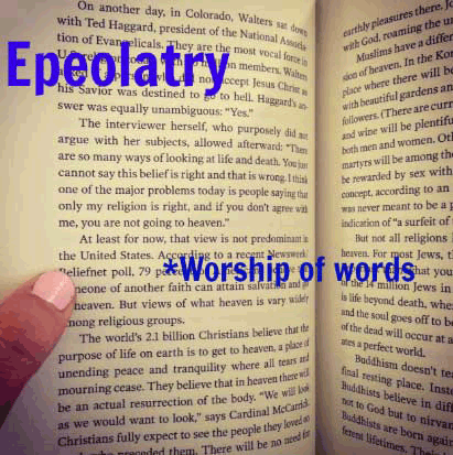 epeolatry weird word book