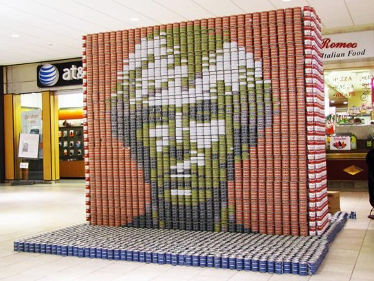 Play with your food via Canstruction.