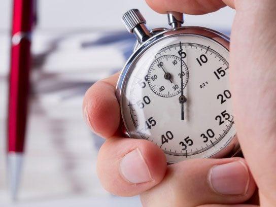 Set a timer.