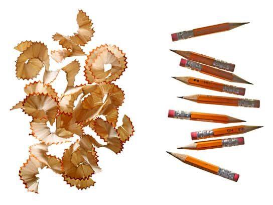 ... pencil shavings.