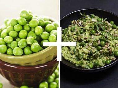 Green Pea Guacamole Dip