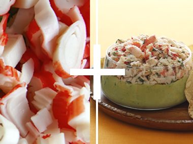 Fresh Crab Guacamole Dip
