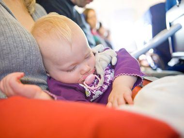 Is traveling with a baby in your lap safe? No.