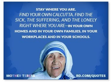 Stay where you are. Find your own Calcutta.