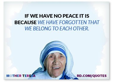 If we have no peace...