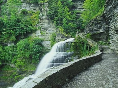 New York: Lucifer Falls in the Upper Gorge of Robert H. Treman State Park