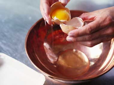 Use egg whites as glue.