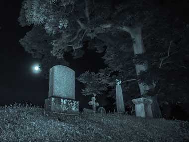 Graves at night
