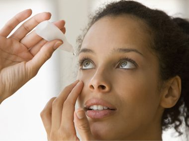 woman eyedrop health