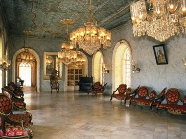 wealthy home ballroom