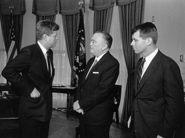 J Edgar Hoover with Kennedy