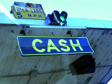 tollbooth cash fine
