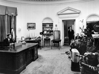 Kennedy in Oval Office