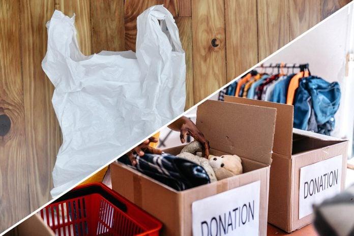 donations plastic bag uses reusable