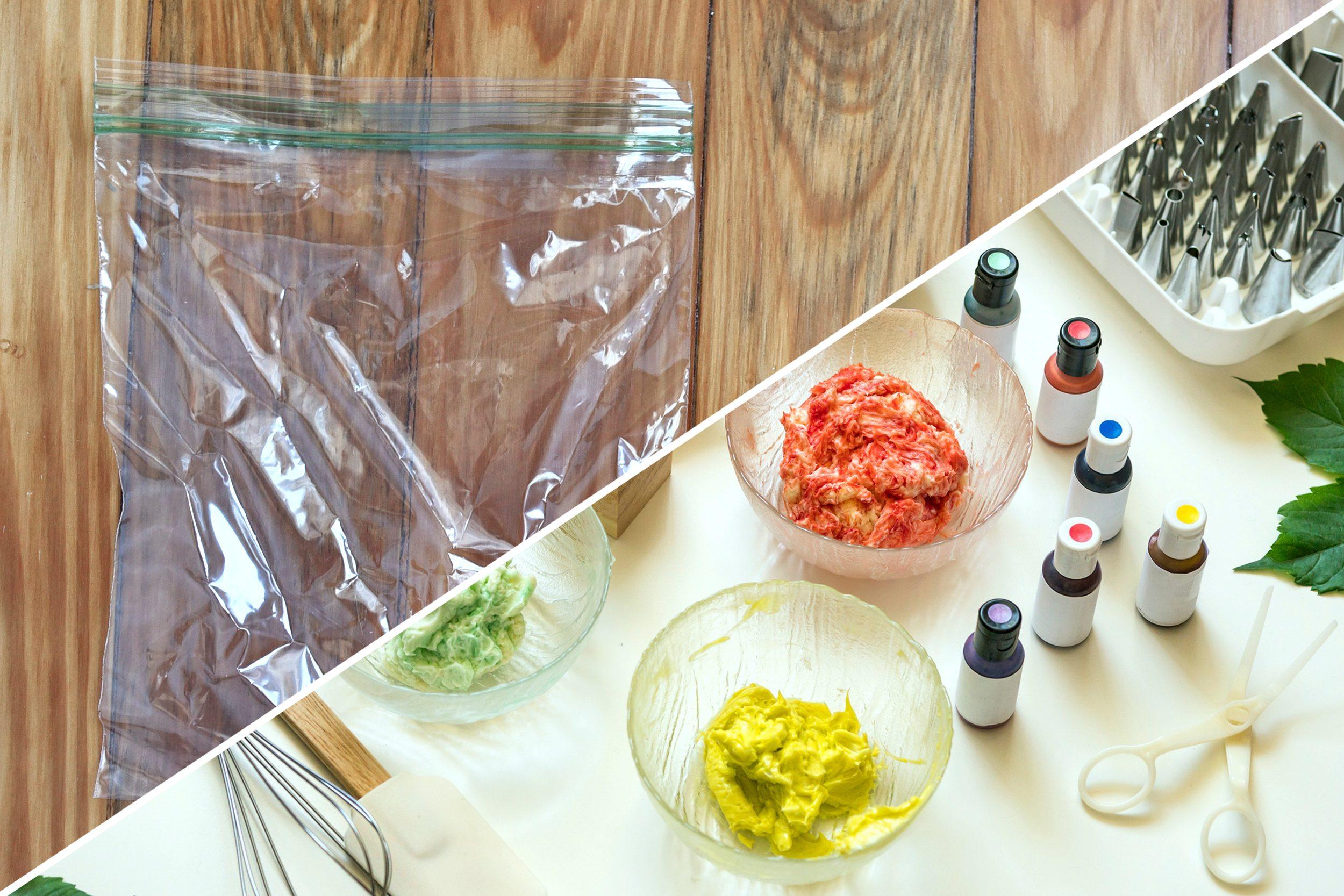 food coloring cookie dough plastic bag uses reusable life hacks