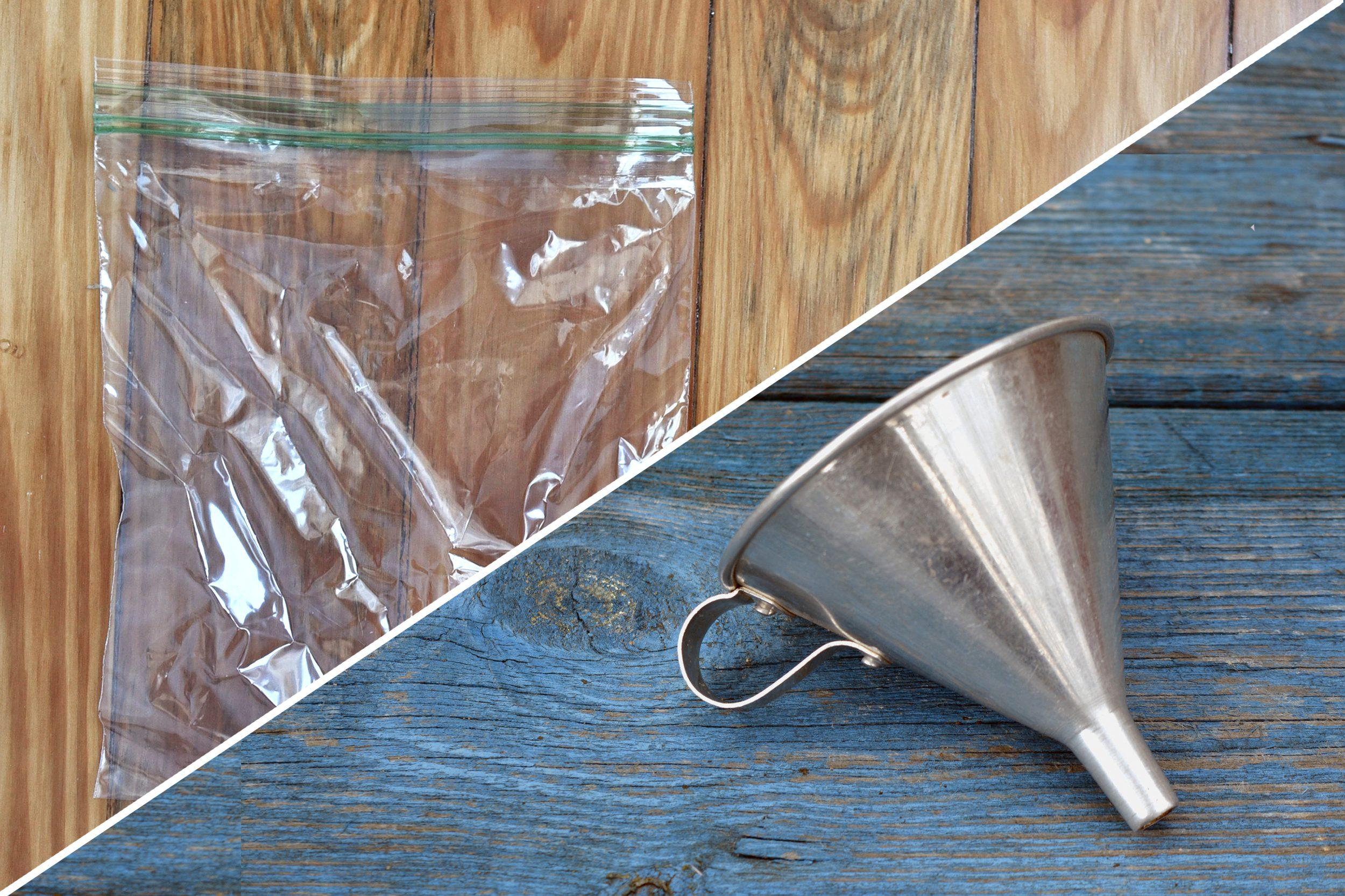 funnel plastic bag uses life hacks reusable