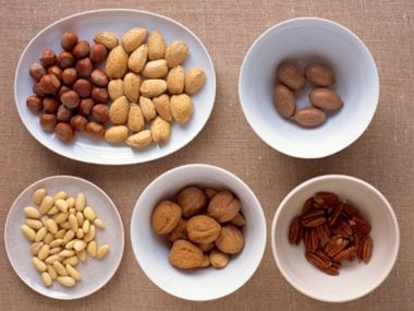 Bowls of mixed nuts