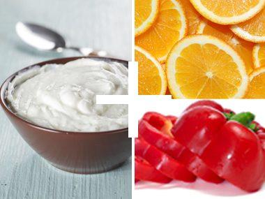 Greek Yogurt, Orange, and Peppers