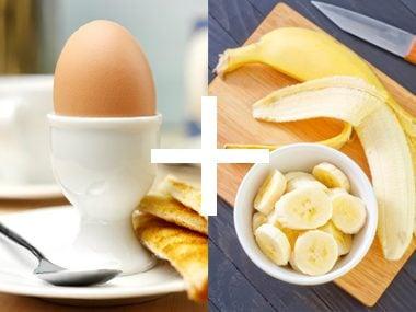 Egg and banana