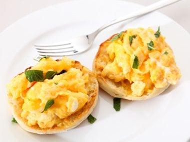 Egg sandwhich on english muffin