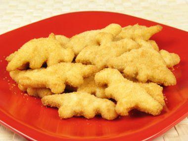 Dinosaur chicken nuggets