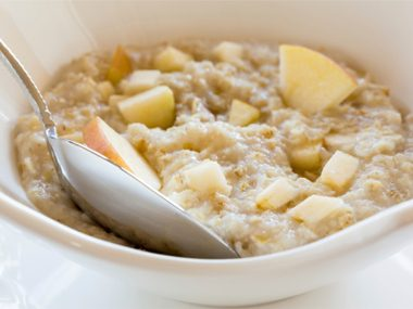 Basic breakfast: Oatmeal made with water