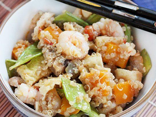 quinoa recipes shrimp stirfry