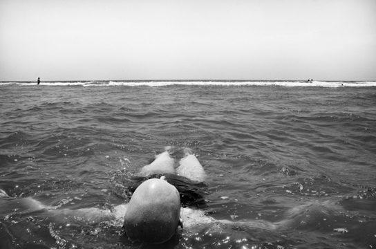 Floating, 7/29/2011, Topsail Island, North Carolina