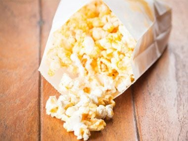 Bag of cheesy popcorn