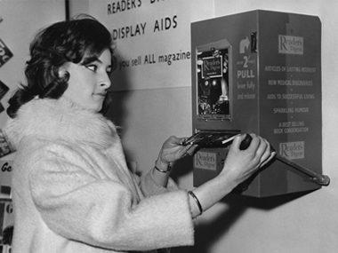 Reader's Digest vending machine
