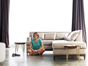 neat freak woman couch