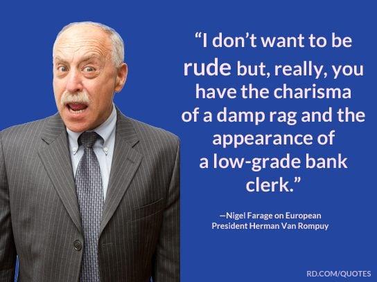 political insults bank clerk