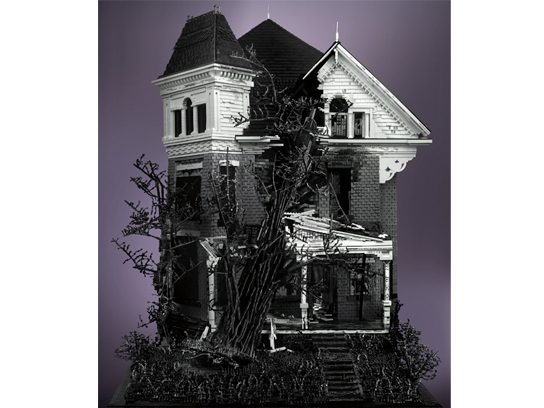 Three Story Victorian with Tree (2011) © Mike Doyle