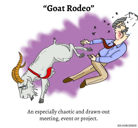 Goat Rodeo nerdy words