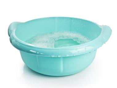 Bucket of water and salt