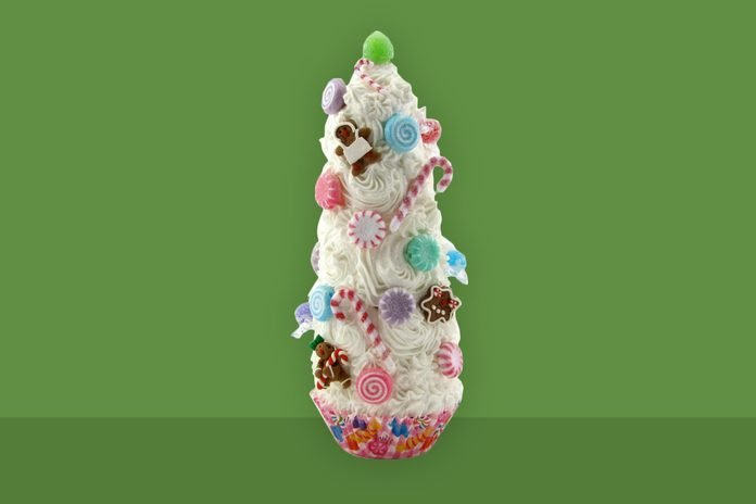 mini Candyland-inspired tree