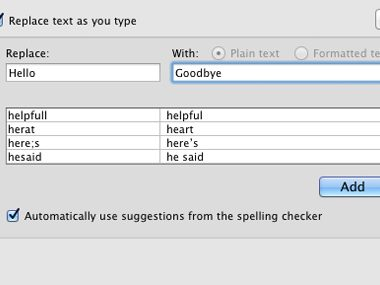 Tinker with autocorrect