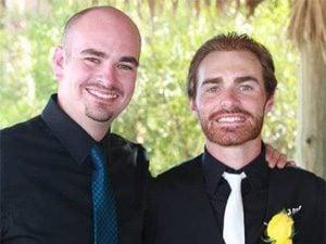 Jason Lambert, left, with Sean Misner