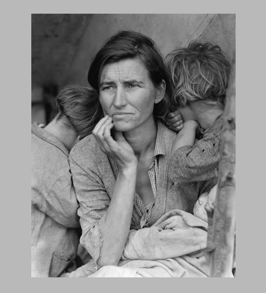 <i>Migrant Mother</i>. Nipomo, San Luis Obispo County, California, 1936