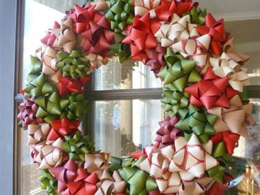 go for a bow wreath - Where To Buy Cheap Christmas Decorations
