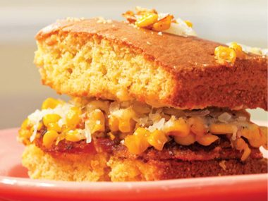 Cayenne Cornbread Grilled Cheese