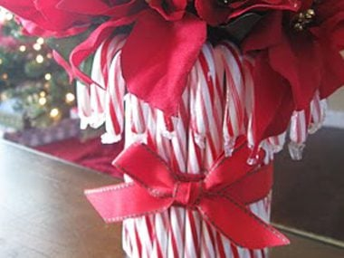 craft a candy cane vase ruth soukup christmas decorating