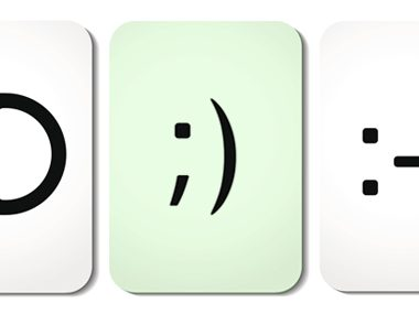 Emoticons, winky face