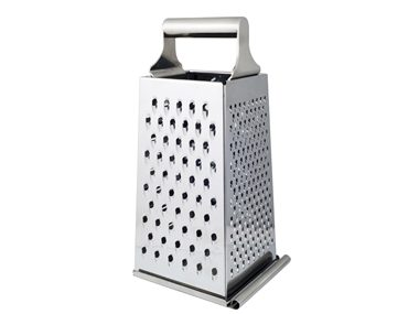 Use a box grater to purée.
