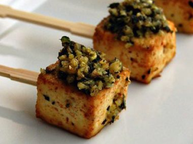 Roasted Tofu Pesto Pops