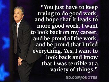 Jon Stewart Life Advice