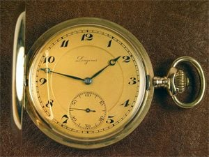 English: An old pocket gold watch