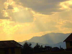 Pindari Glacier Sun and Rays