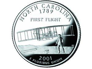 North Carolina quarter, reverse side, 2001